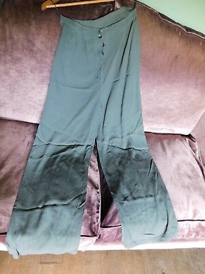 Pair Of Pre-Owned Ghost Full Length Trousers, Olive Green, Size Small