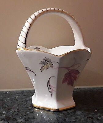 Tuscan Windswept Bone China Basket Made in England