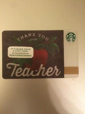 Starbucks 2016 Teacher's Day Teacher Thanks Gift Card (no value, brand new)