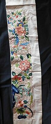 Single Antique Chinese Silk Embroidered Sleeve Panel