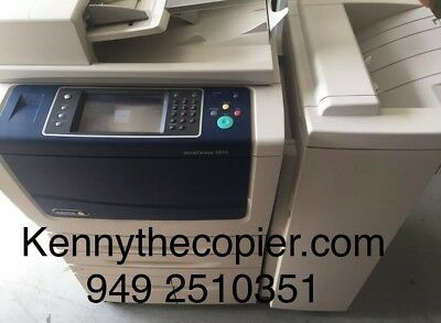 Xerox WC 5855,workcenter,copier,printer,color scan,clean,BF01,B56 finisher,35k