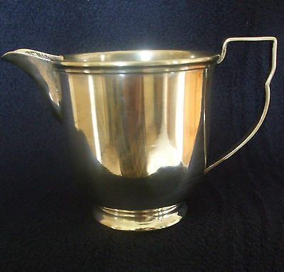 VINTAGE SILVER PLATED VICEROY PLATE CREAM JUG. 1930's, MARKED N C J LTD.