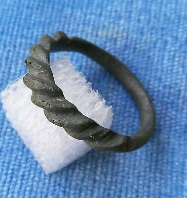 Viking Spiral bronze finger ring.12th-14th century.Very Fine Condition