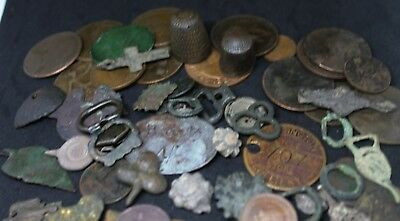 metal detecting finds Roman / medieval lot