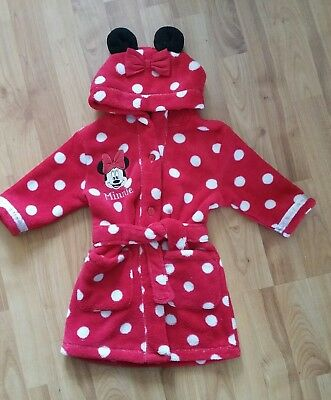 9-12 month Red minnie mouse hooded dressing gown