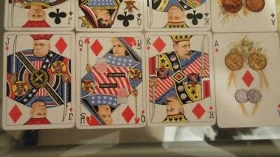 Antique 1899 ANHEUSER BUSCH SPANISH AMERICAN WAR MILITARY PLAYING CARDS W/BOX