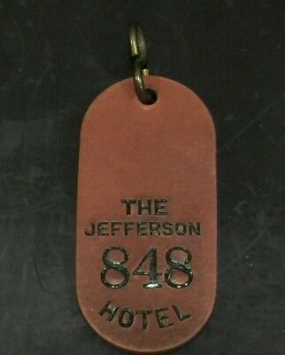 Jefferson Hotel Antique Key Tag Fob 848