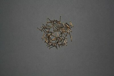 Pack of tiny new Brassed 10mm nails/pins/tacks for antique/vintage clock repairs