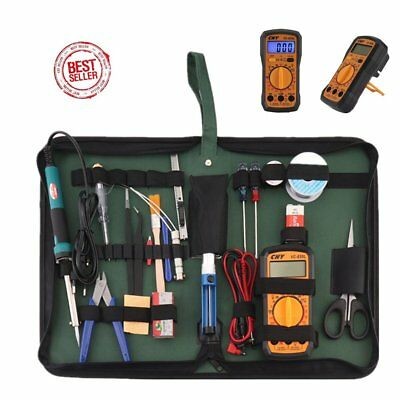 Lötkolben Set 24 In 1 Lötset Lötstation Mini Multimeter Feinlötkolben W#