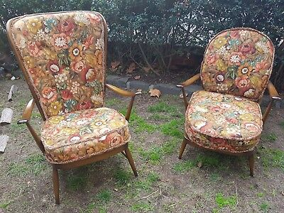 """1960's/1970's Old Colonial """"Easy"""" Chairs"""