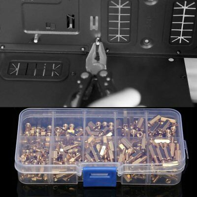 5X(300Pcs M3 Brass Hex Column Standoff Support Spacer Screw Nut Assortment S7V7