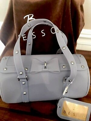 """NWT!!! BESSO Jelly Handbag Purse in ice blue! """"Love college"""" style ... 5e10aacc679bd"""