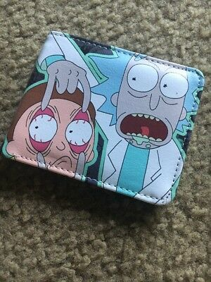 New Rick and Morty Leather 12cm Bifold Wallet Purse Cool Gift