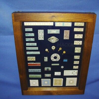 Beautiful Integrated Circuit Collection + Shadow Box