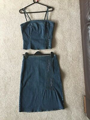 Jean Top And Matching Skirt size 12
