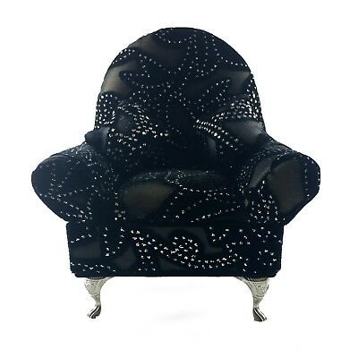 Small Chair Decorative Upholstered Metal Legs with Secret pocket Antique Gift