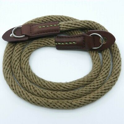 Khaki Woven Cotton Rope Camera Strap with ring connection by Cam-in (95cm)