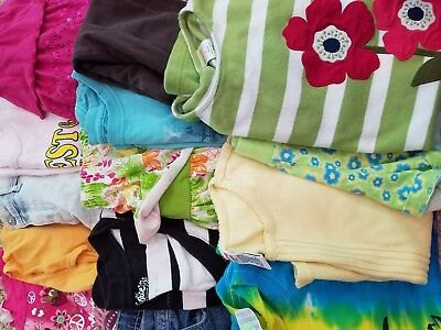 HUGE Girls Clothing LOT of 15 pieces Size 7 7/8 Spring Summer Gymboree Justice