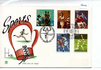 GB - FIRST DAY COVER - FDC- 1609- SPECIALS - 1980 SPORT - dble cancel + Marathon