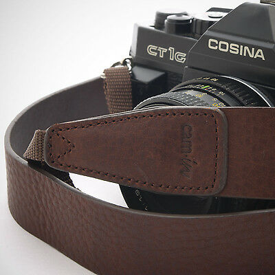 Dark Brown Leather Cam-in DSLR Camera Strap CAM2245 UK Stock