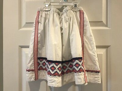Crewcuts Girls' 14 White Embroidered Pull-on Lined Skirt with drawstring *EUC
