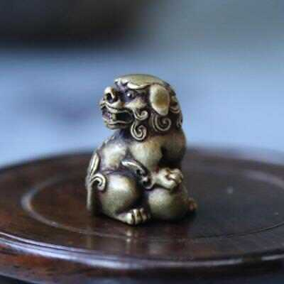 China Pure Copper Evil Guardian Fu Foo Dog Lion Amulets Necklaces & Pendant AAA