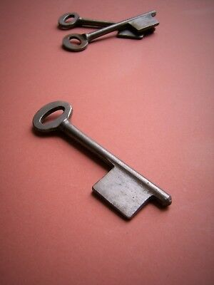 """Old steel mortice lock key blank 7-SWG / 1 1/2"""", several available"""
