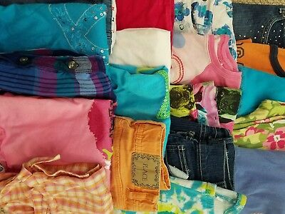 HUGE Girls Clothing LOT of 19 pieces Size 7 7/8 Spring Summer TCP JUSTICE DISNEY