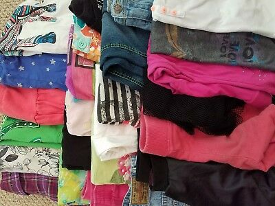 HUGE Girls Clothing LOT of 25 pieces Size 7 7/8 Spring Summer GYMBOREE JUSTICE