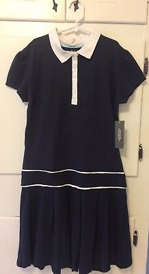Girls School Uniform Dress White Collar NWT Size 14