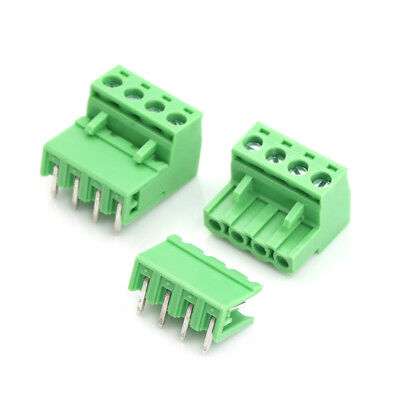 20pcs 5.08mm Pitch 4Pin Plug-in Screw PCB Terminal Block Connector LC