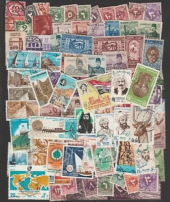 Egypt Large Selection Of Stamps Including Airmails And Postage Dues (80)