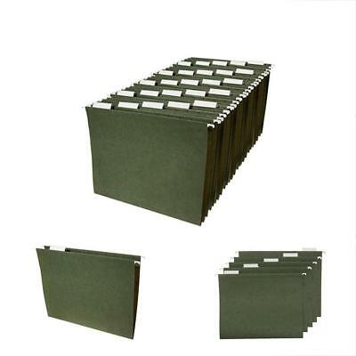 Electronics Features Hanging File Folders Letter Size, Green, 25-Pack