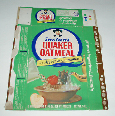 1960's Instant Quaker Oatmeal cereal box