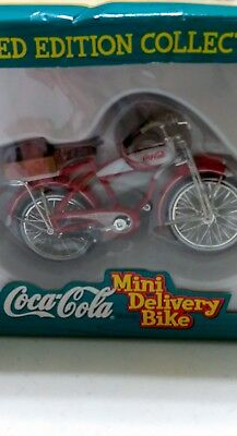 Coca Cola Mini Delivery Bike Numbered 1998 1:20 Scale Die Cast Limited Edition