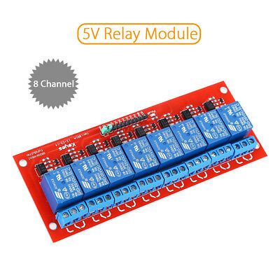 8CH DC 5V Relay Module With Optocoupler High Level Trigger Durable For Arduino