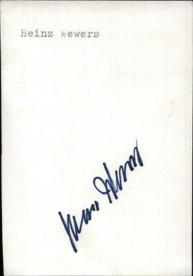 Heinz Wewers Fußball DFB 1951-1958 orig. Autogramm Autograph Signed Card (K-8899