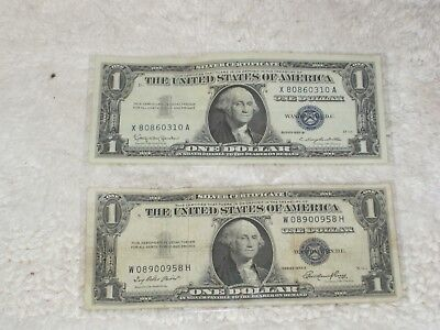 1935E and 1957B Silver Certificates- Two Certificates