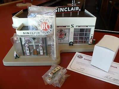 Danbury Mint Sinclair Service Station Clock / Vintage Gas Station