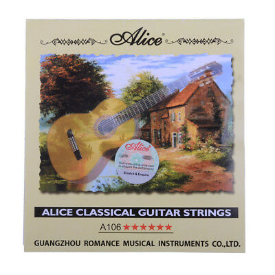 Set of Classical Guitar Strings Sets Clear Nylon Guitar Strings A106-H Alice