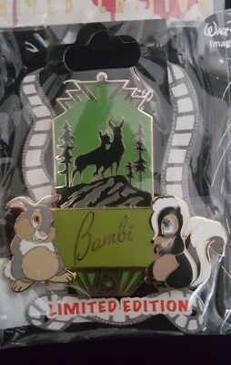 DSF DSSH BAMBI Thumper Flower 75th ANNIVERSARY MARQUEE PIN LE 200 NEW IN HAND