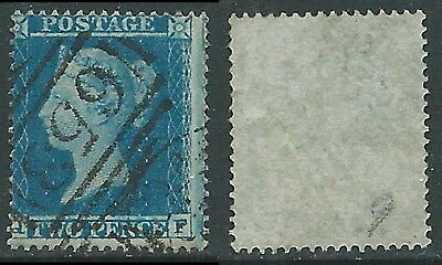 1854-57 GREAT BRITAIN USED PENNY BLUE 2d SG27 P16 (QF)