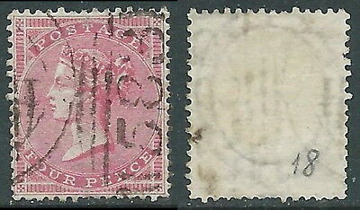 1855-57 GREAT BRITAIN USED SG 66A 4d W17