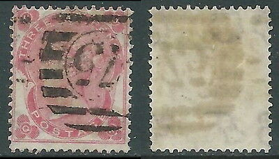 1862-64 GREAT BRITAIN USED SG 75 3d PLATE 2 (QR)