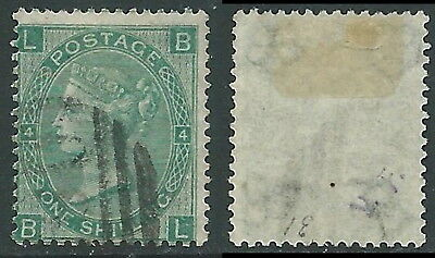 1865-67 GREAT BRITAIN USED SG 101 1s PLATE 4 (BL)