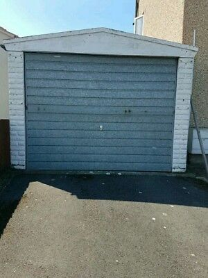 Single Concrete Sectional Garage, Used