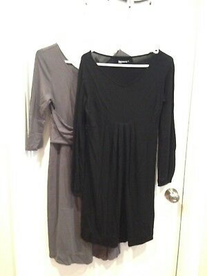 Gap, Old Navy Maternity Dresses, size M, one Gray and one Black