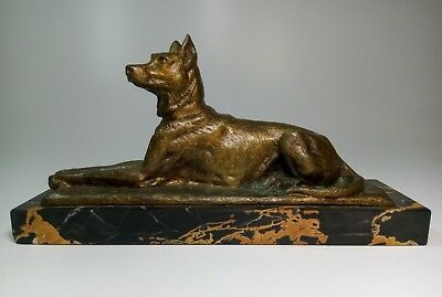 Rare Charles Gremion French Bronze Dog Figurine Antique 19th