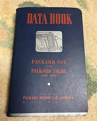 1938 Packard 6 & 8 Salesman's Data Book