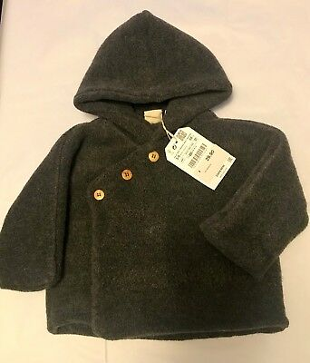 ce1f8f04729b ZARA MINI COLLECTION Baby Girl 9-12 Months Dark Gray Hood Lined Coat ...
